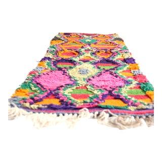"Vintage Moroccan Carpet - 1'2"" x 3'6"""