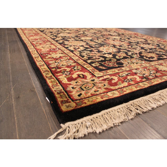 """Hand-Knotted Kashan Wool Rug - 5'1"""" X 7'10"""" - Image 5 of 5"""