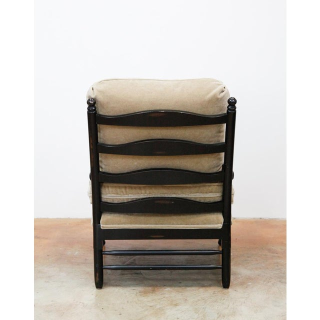 Transitional Mohair Side Chair - Image 4 of 6