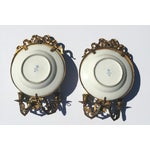 Image of Antique Plate Wall Sconces - A Pair