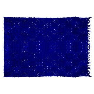 "Handira Blue Wedding Blanket - 6'5"" x 7'2"""