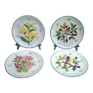 Italian Hand Painted Plates - Set of 4