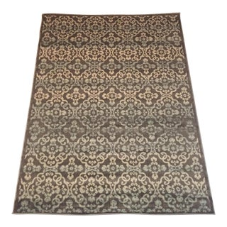 Transitional Gray & Beige Medallion Rug - 5′3″ × 7′2″