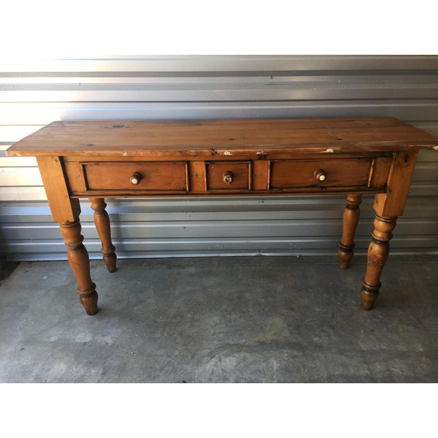 Rustic Handmade Console Table - Image 3 of 11