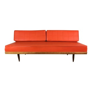 Mid-Century Modern Orange Daybed