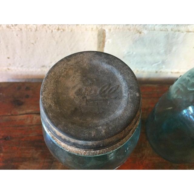 Vintage Blue Ball Mason Jars - A Pair - Image 5 of 11