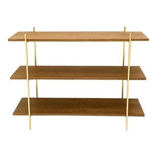 Modern Walnut & Gold Book Shelf