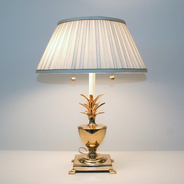 Hollywood Regency Brass Pineapple Desk Lamp - Image 10 of 10