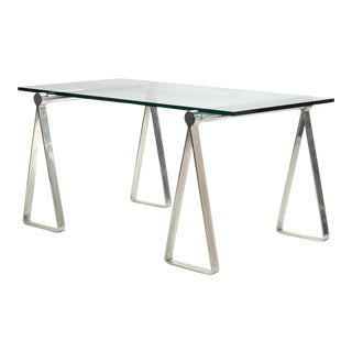 "1970s Aluminum ""Sawhorse"" Table or Desk"