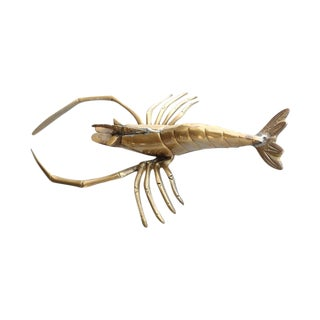 Vintage Brass Lobster