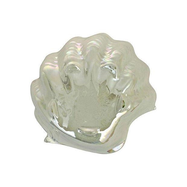 Image of Opalescent Clamshell Dish Bowl