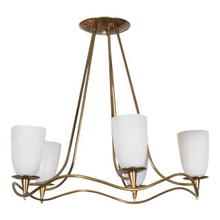 Paavo Tynell Brass Chandelier