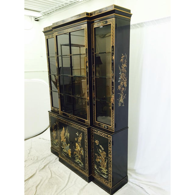 Vintage 1980s Drexel Heritage Asian Chinoiserie China Cabinet - Image 8 of 11