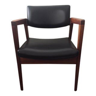 Gunlocke Mid-Century Walnut Arm Chair / Office or Accent / Restored
