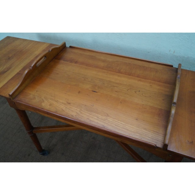 Stickley Solid Cherry Vintage Serving Cart - Image 9 of 10