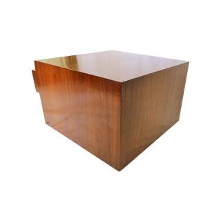 Milo Baughman Style Cube Coffee Table