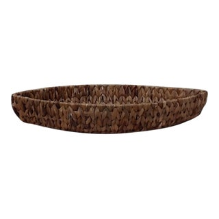 Vintage Canoe Shaped Basket