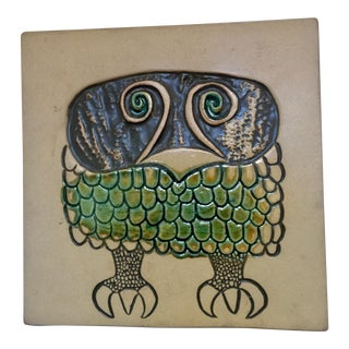 David Gil Bennington Pottery Mid-Century Wall Plaque or Trivet