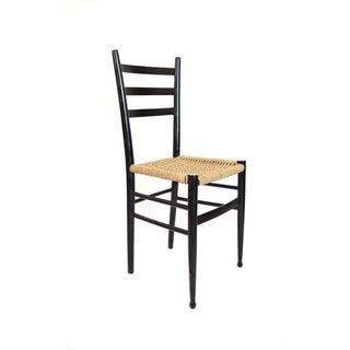 Gio Ponti Style Ladder Back Italian Side Chair