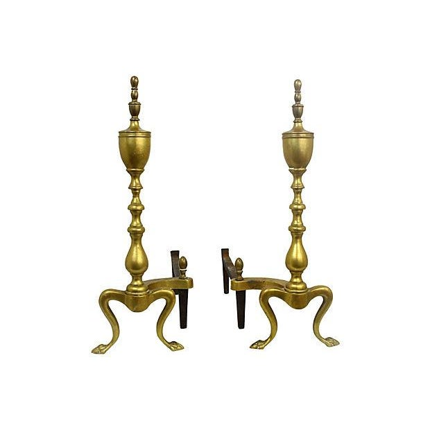 Brass Andirons - A Pair - Image 5 of 6