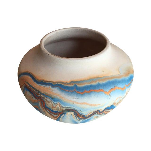 Nemadji Native American Marbelized Vase - Image 1 of 8