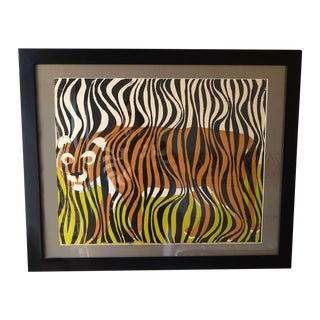 Framed Tiger Screen Print