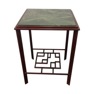 John Ricker Designed Marble and Steel Table