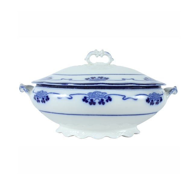 Flow Blue Lorne by Grindley Tureen - Image 1 of 4