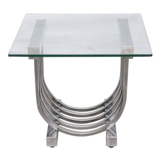 Donald Deskey Chrome Side Table, 1960s, USA