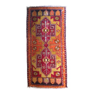 Small Vintage Turkish Rug - 1′9″ × 3′8″
