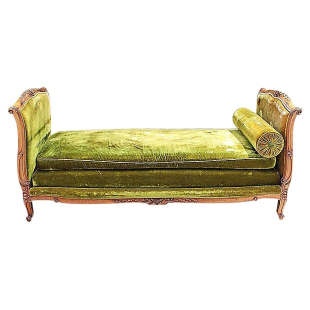 Louis XV-Style French Antique Daybed - Image 1 of 6