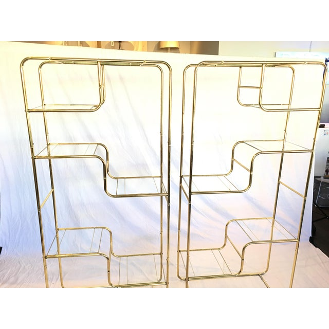 Regency Brass & Glass Etageres - A Pair - Image 3 of 4