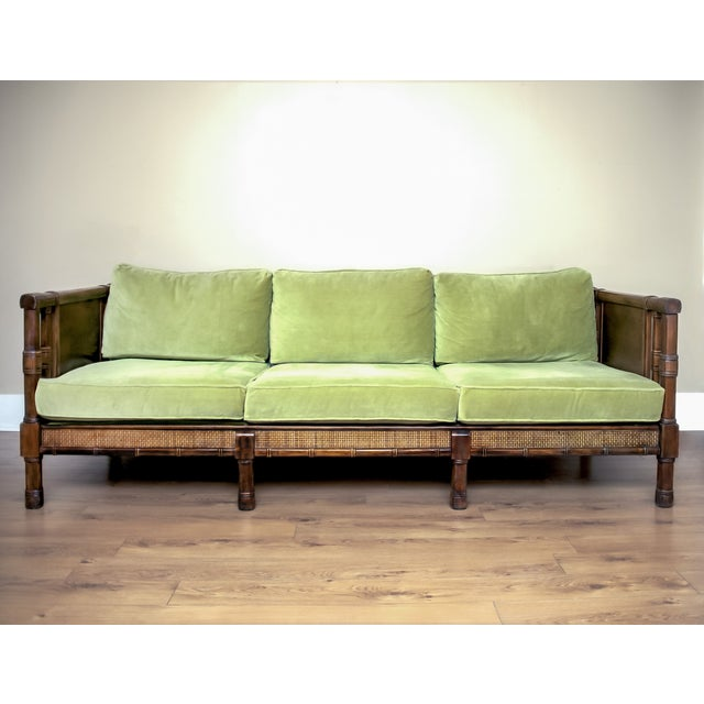 Vintage Broyhill Hollywood Regency Cane Sofa Chairish