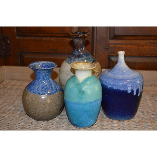 Collection of Drip Glazed Ceramic Vases - Set of 4 - Image 2 of 9