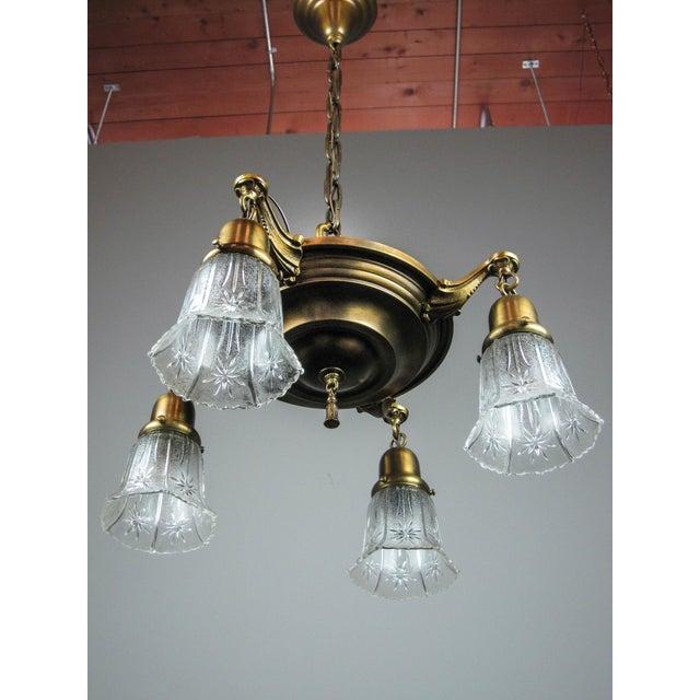 Original Pan Light Fixture (4-Light) - Image 4 of 8