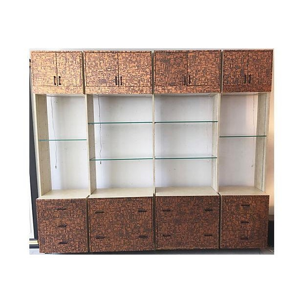 Brutalist Bookcase Wall Unit - Set of 4 - Image 2 of 8