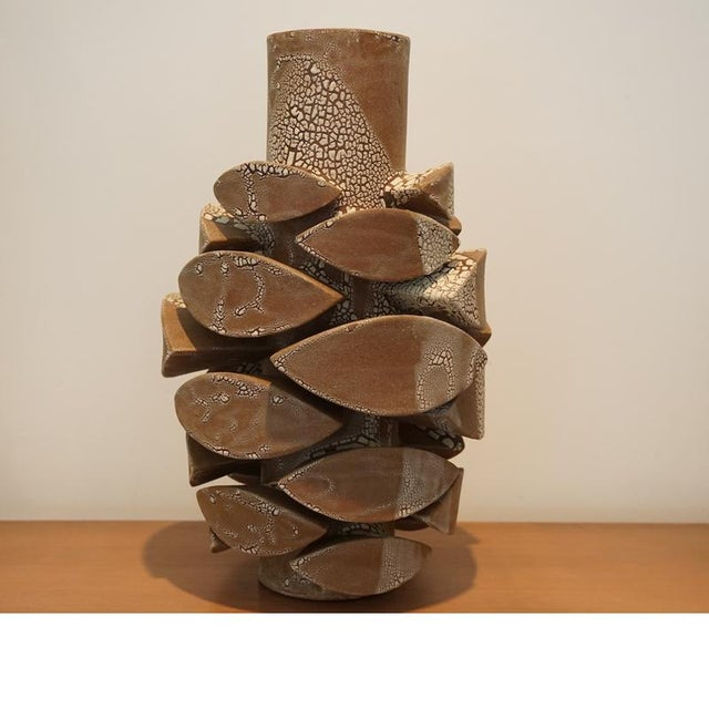 Image of White Crackle Totem Large