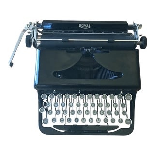 "1930's Royal Portable Vintage Typewriter ""O"" Model"
