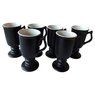 Carbone Black Mugs - Set of 6