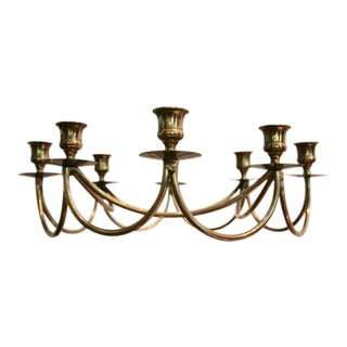 Brass Danish Modern 8-Candle Holder Candelabrum