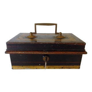 English Metal Cash Box