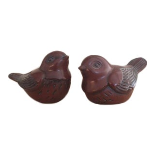 Stone Carved Birds - A Pair