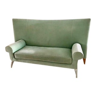 Sea Mist Wool Velvet Royalton Sofa by Philippe Starck 1988