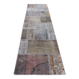 Turkish Vintage Overdyed Patchwork Oushak Runner - 2′9″ × 10′