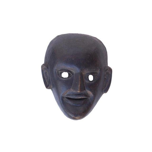 Traditional Chinese Vintage Black Opera Mask | Chairish