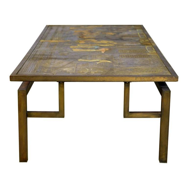 Philip U0026 Kelvin Laverne Chin Ying Bronze Coffee Table, Rare Massive   Image  5 Of