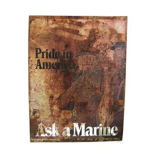 """""""Ask a Marine"""" Large Tin Sign"""