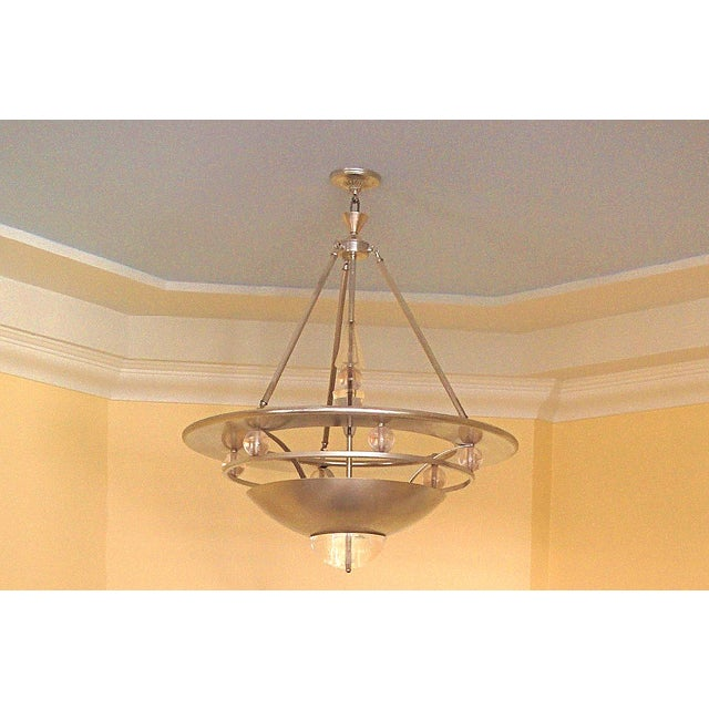 Mid-Century Modern Atomic Space Age Chandelier - Image 2 of 4
