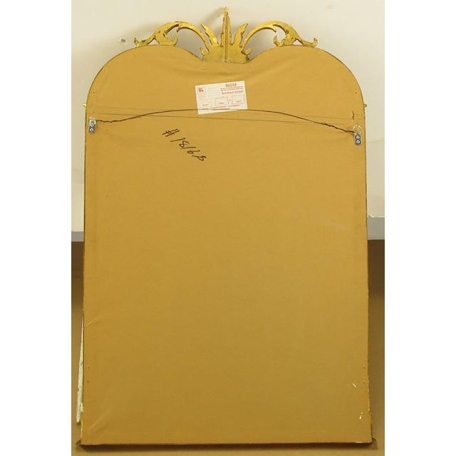 Empire Revival Parcel-Gilt and Black Lacquer Wall Mirror - Image 6 of 7