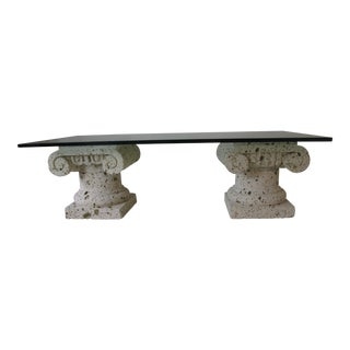 Neoclassical Stone Columns Coffee Table